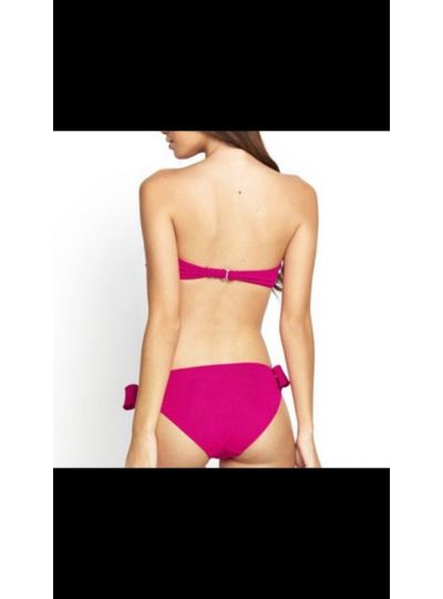 Dark Pink Padded Bow Swimwear