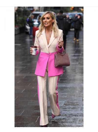 2 piece Pink Pant Suit