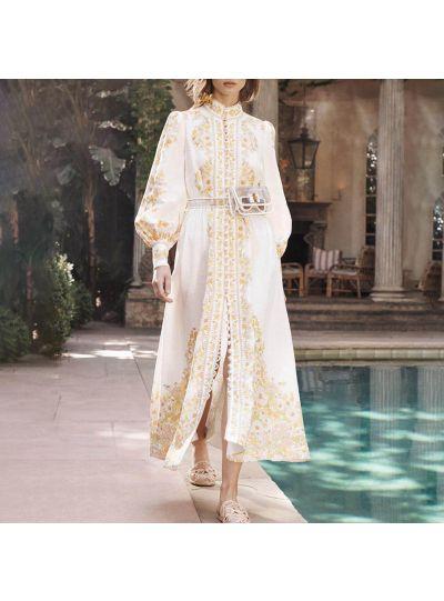 White floral Resort Dress