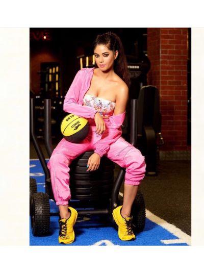 Pink Reflective Joggers  Set