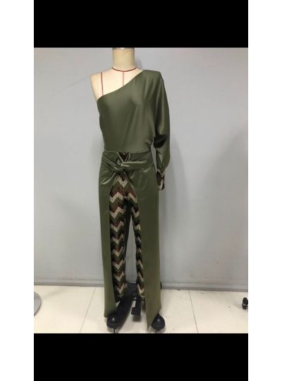 Green Sequence Jumpsuit