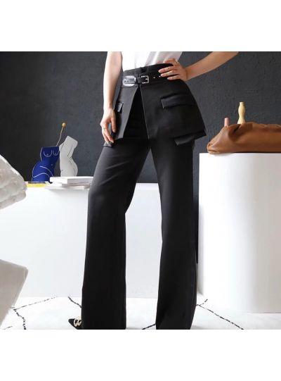 Black Pants with Detachable Skirt