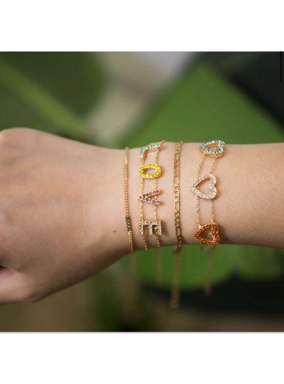 Love Heart Set Of 4 Bracelet