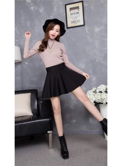 High Waist Skater Short Skirt