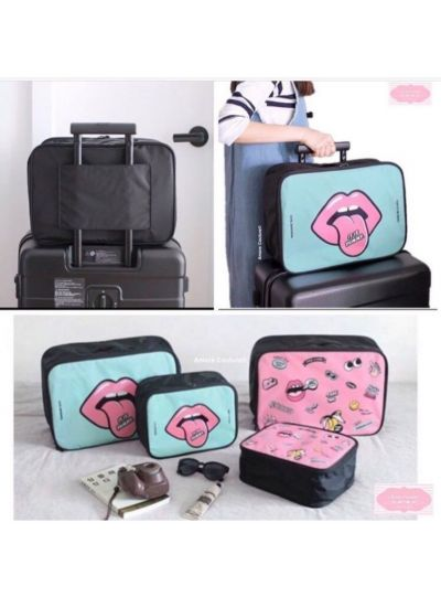 Lippy Bag with back Handle ( Mint )