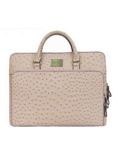 Ostrich Grain Laptop Bag