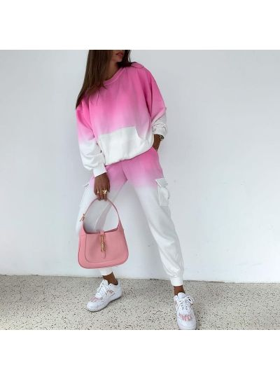 Pink / Blue Ombre Set with Pockets