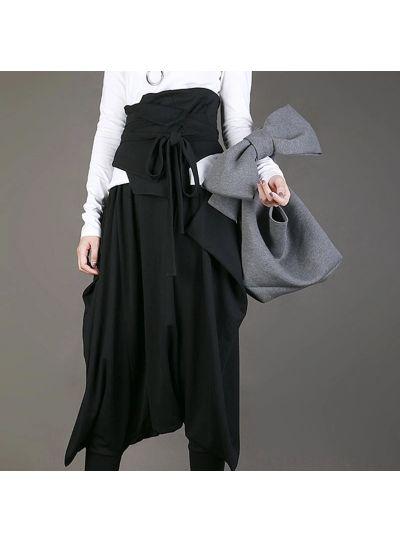 Grey Bag with Big Bow
