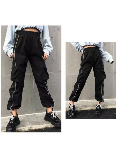Reflective Side Strip Joggers