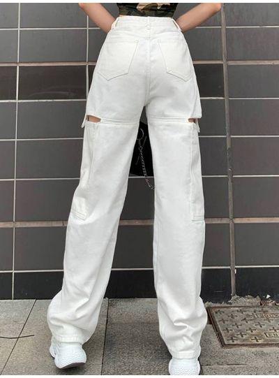 White Straight Leg Pants